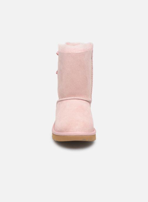 Stiefel UGG Bailey Bow II K rosa schuhe getragen