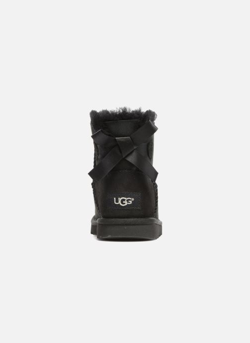 Botas UGG Mini Bailey Bow II K Negro vista lateral derecha