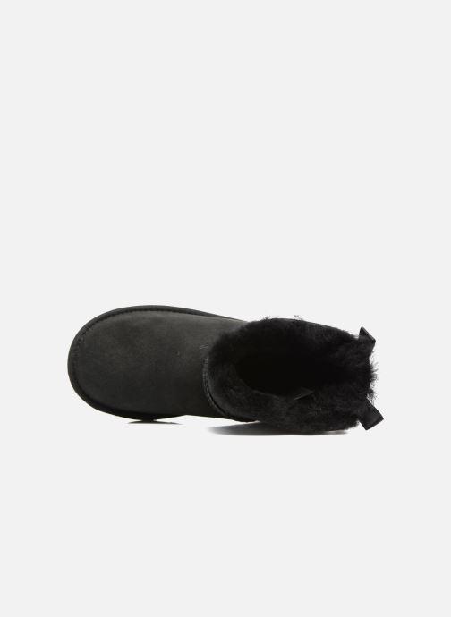 Botas UGG Mini Bailey Bow II K Negro vista lateral izquierda