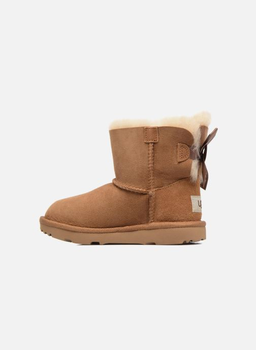 Stivali UGG Mini Bailey Bow II K Marrone immagine frontale