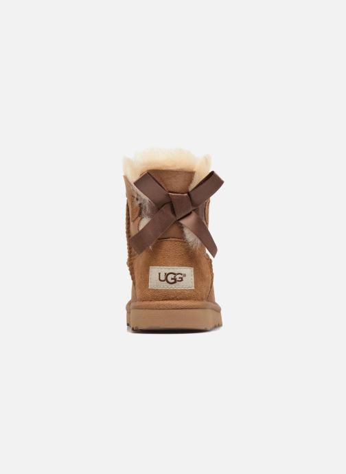 Stivali UGG Mini Bailey Bow II K Marrone immagine destra