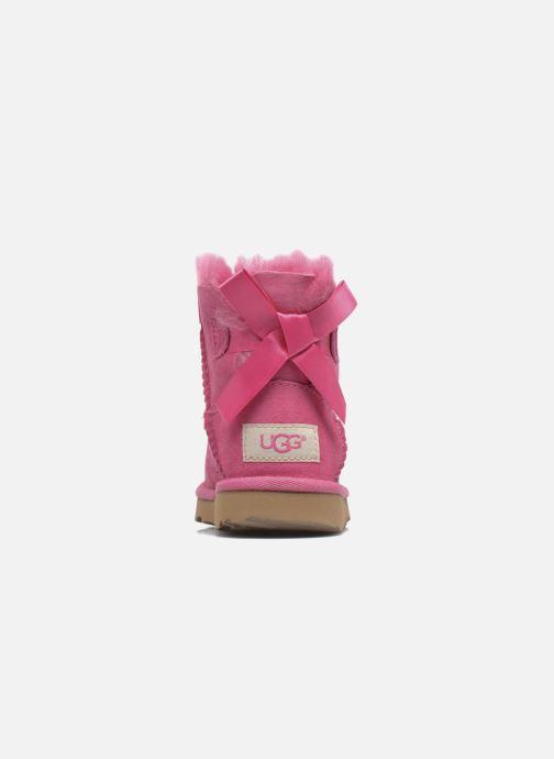 Stövlar & gummistövlar UGG Mini Bailey Bow II K Rosa Bild från höger sidan