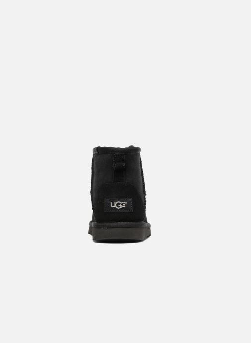 Botas UGG Classic Mini II K Negro vista lateral derecha