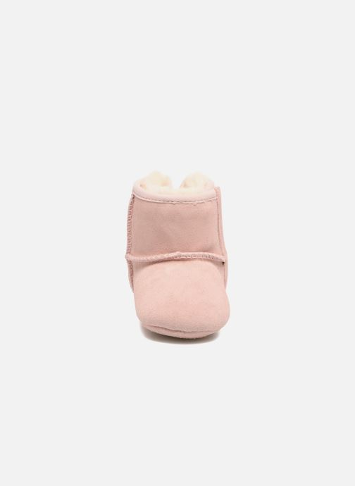 Chaussons UGG Jesse Bow II K Rose vue portées chaussures