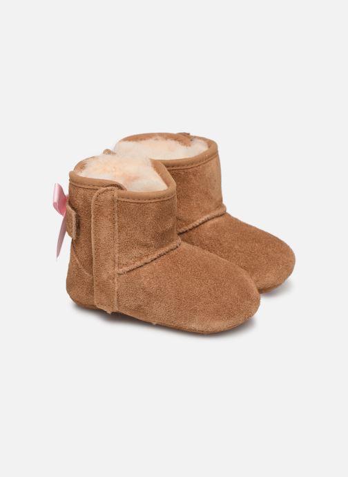 Hjemmesko UGG Jesse Bow II K Brun detaljeret billede af skoene