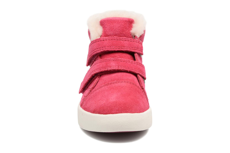 Baskets UGG Rennon Stars Rose vue portées chaussures