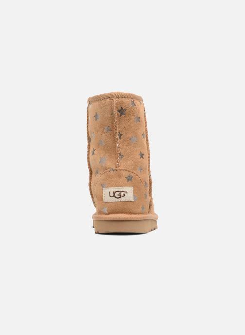 Stiefel UGG Classic Short II Stars K braun ansicht von rechts