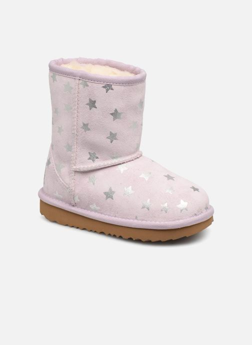 Støvler & gummistøvler UGG Classic Short II Stars K Lilla detaljeret billede af skoene