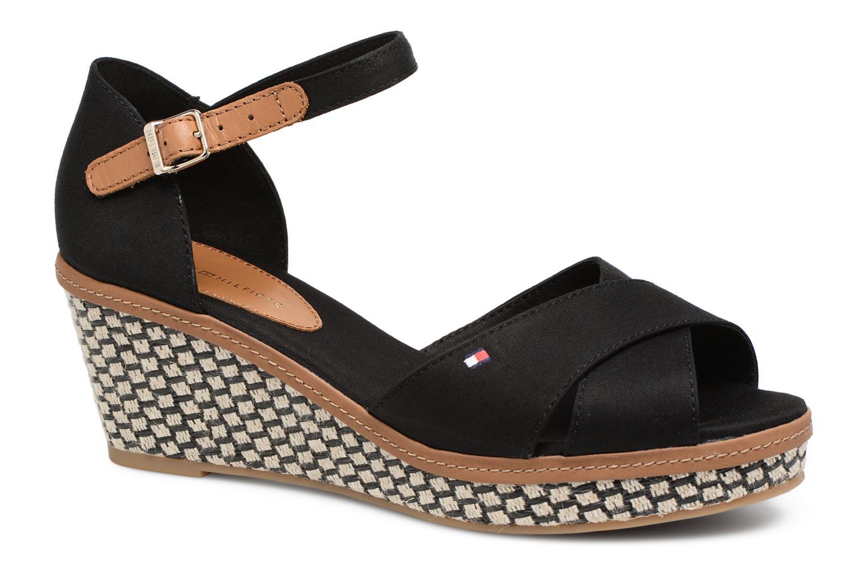 Sandales et nu-pieds Tommy Hilfiger ICONIC ELBA SANDAL BASIC Noir vue détail/paire