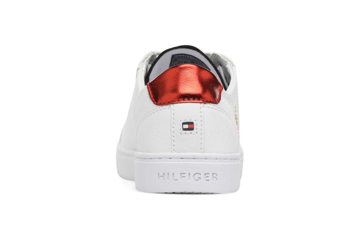 Baskets Tommy Hilfiger TOMMY STAR METALLIC SNEAKER Blanc vue droite