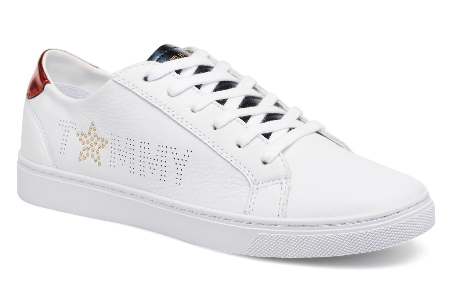 Baskets Tommy Hilfiger TOMMY STAR METALLIC SNEAKER Blanc vue détail/paire