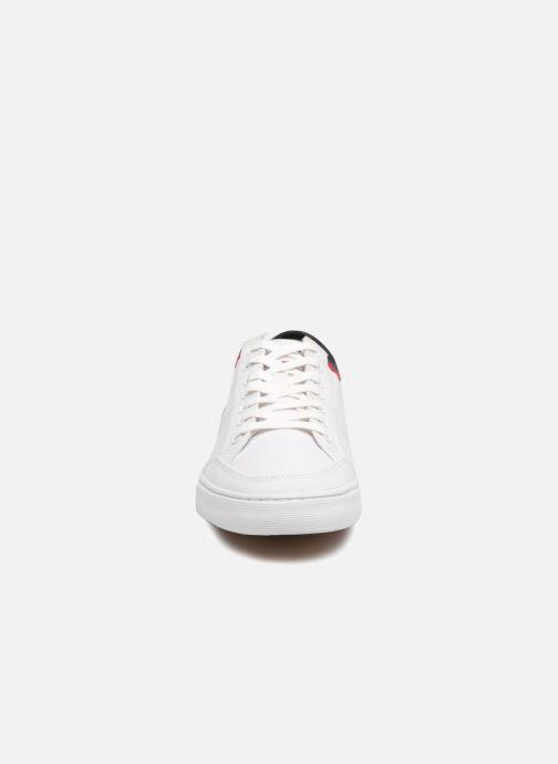 Baskets Tommy Hilfiger CORE CORPORATE TEXTILE SNEAKER Blanc vue portées chaussures
