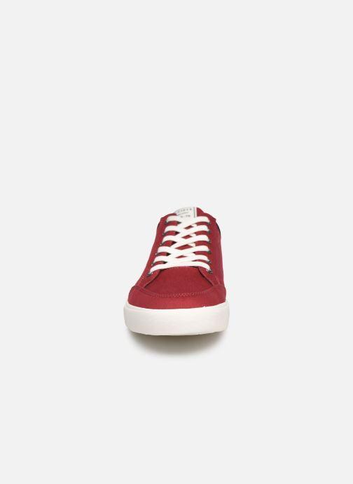 Baskets Tommy Hilfiger CORE CORPORATE TEXTILE SNEAKER Rouge vue portées chaussures