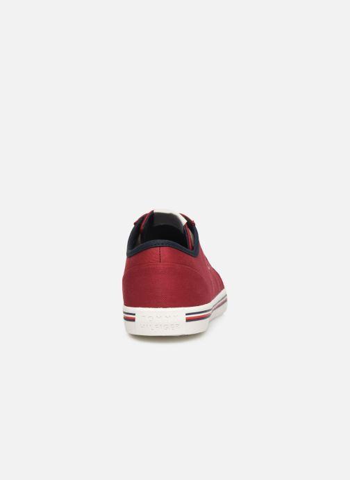 Sneakers Tommy Hilfiger CORE CORPORATE TEXTILE SNEAKER Rosso immagine destra