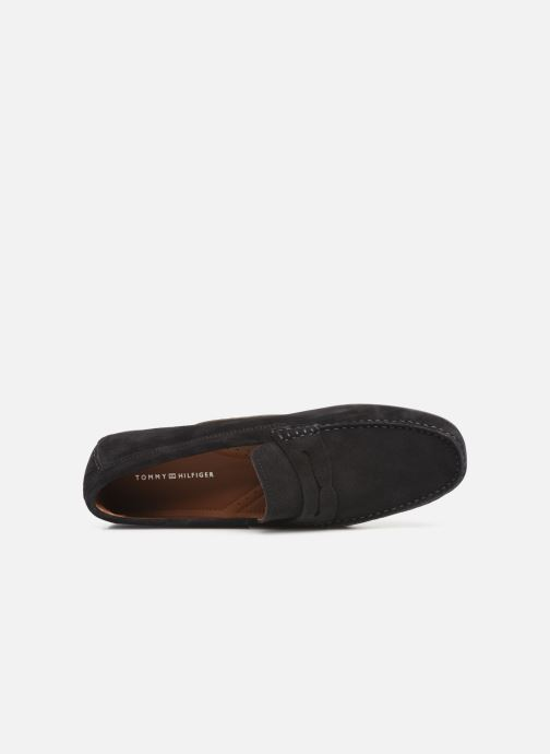 Mocassins Tommy Hilfiger CLASSIC SUEDE PENNY LOAFER Noir vue gauche