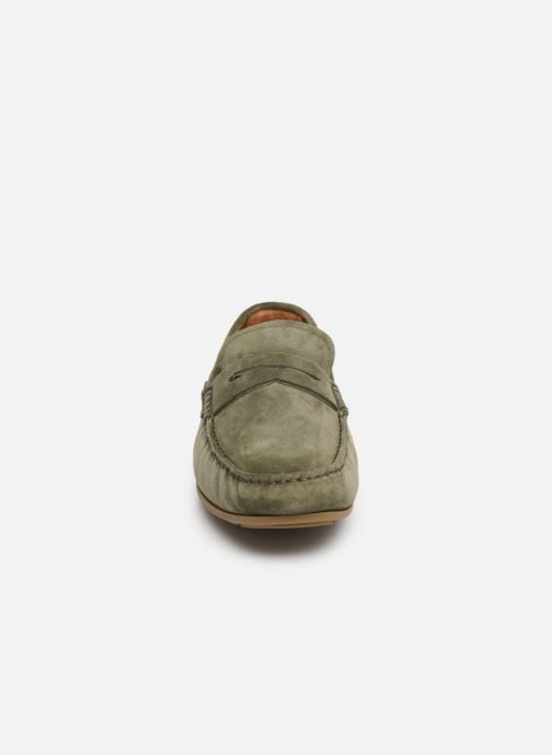 Mocassins Tommy Hilfiger CLASSIC SUEDE PENNY LOAFER Vert vue portées chaussures