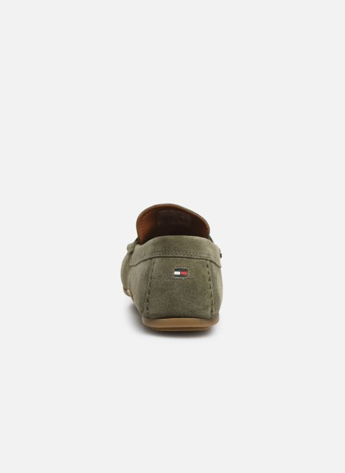 Mocassins Tommy Hilfiger CLASSIC SUEDE PENNY LOAFER Groen rechts