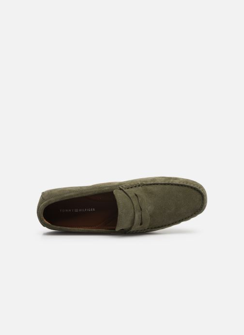 Mocassins Tommy Hilfiger CLASSIC SUEDE PENNY LOAFER Vert vue gauche