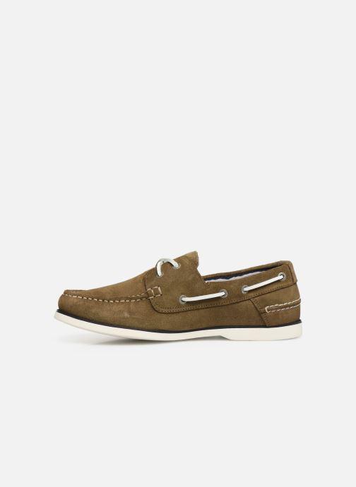 Chaussures à lacets Tommy Hilfiger Classic suede boatshoe Vert vue face