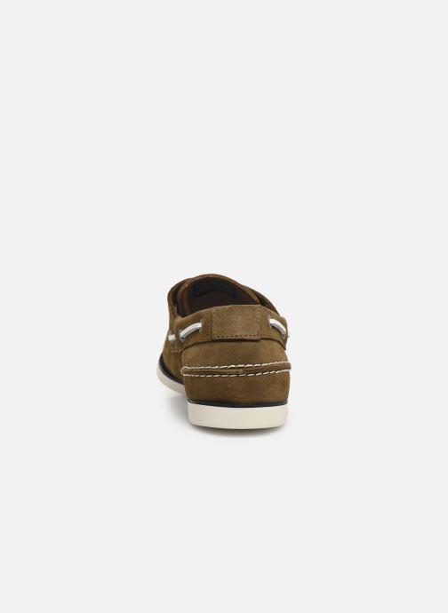 Chaussures à lacets Tommy Hilfiger Classic suede boatshoe Vert vue droite