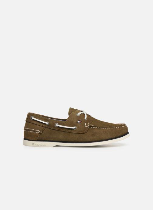 Chaussures à lacets Tommy Hilfiger Classic suede boatshoe Vert vue derrière