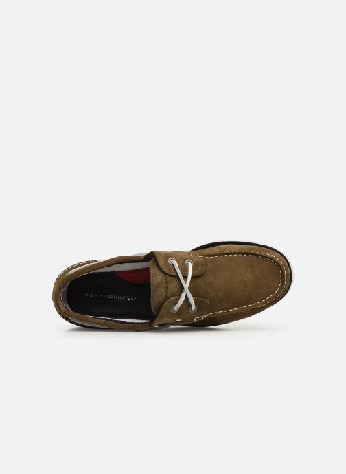 Chaussures à lacets Tommy Hilfiger Classic suede boatshoe Vert vue gauche
