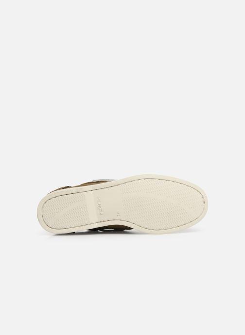 Chaussures à lacets Tommy Hilfiger Classic suede boatshoe Vert vue haut