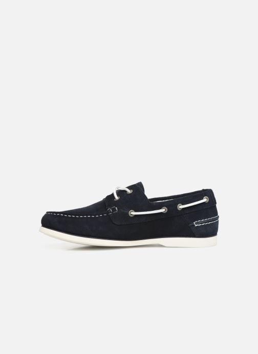Chaussures à lacets Tommy Hilfiger Classic suede boatshoe Bleu vue face