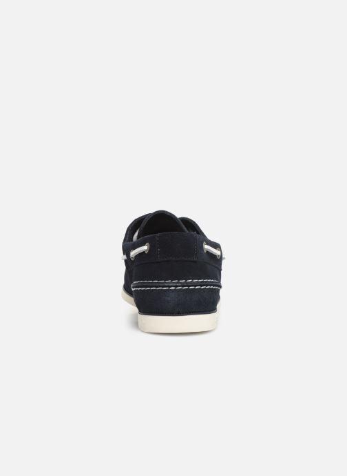 Chaussures à lacets Tommy Hilfiger Classic suede boatshoe Bleu vue droite