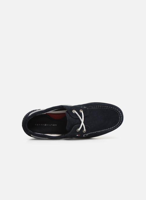 Chaussures à lacets Tommy Hilfiger Classic suede boatshoe Bleu vue gauche