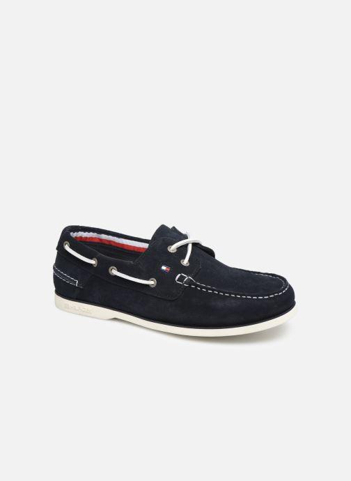 Chaussures à lacets Tommy Hilfiger Classic suede boatshoe Bleu vue détail/paire