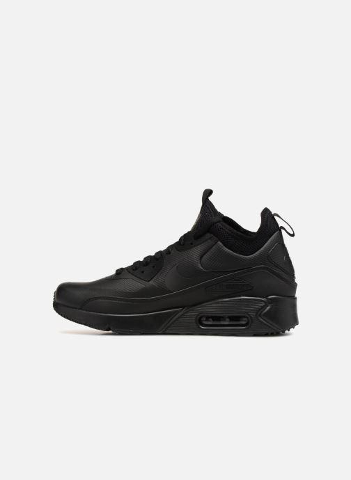 Sneaker Nike Air Max 90 Ultra Mid Winter schwarz ansicht von vorne