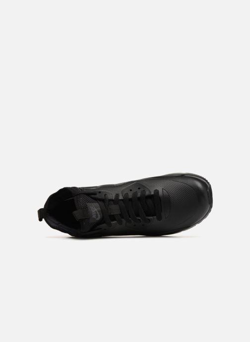 Sneaker Nike Air Max 90 Ultra Mid Winter schwarz ansicht von links