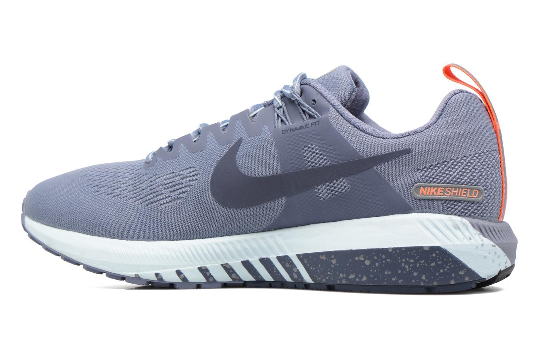 Chaussures de sport Nike W Air Zoom Structure 21 Shield Bleu vue face