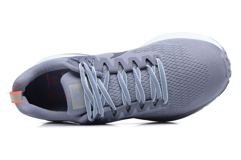 Chaussures de sport Nike W Air Zoom Structure 21 Shield Bleu vue gauche
