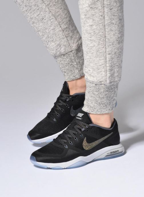 715a7c9c7e94 Sport shoes Nike W Nike Air Zoom Fitness Mtlc Black view from underneath    model view