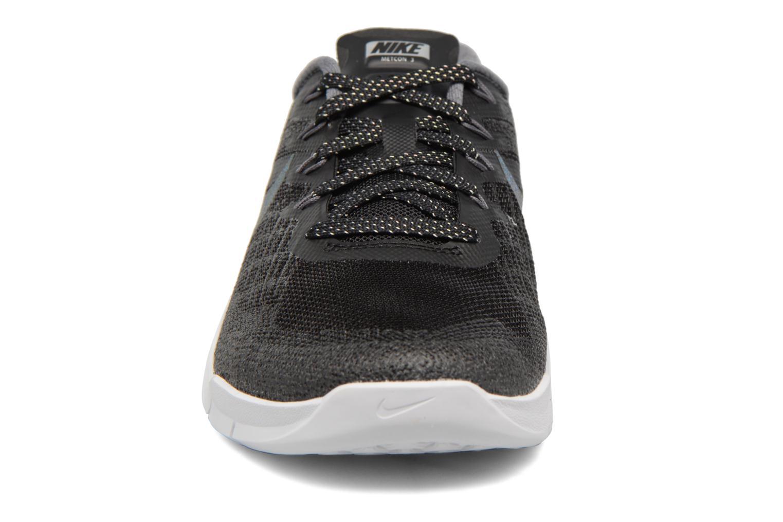 Sportschuhe Nike Wmns Nike Metcon 3 Mtlc blau schuhe getragen