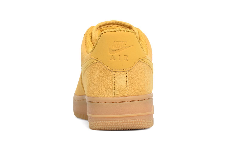 Baskets Nike Wmns Air Force 1 '07 Se Jaune vue droite