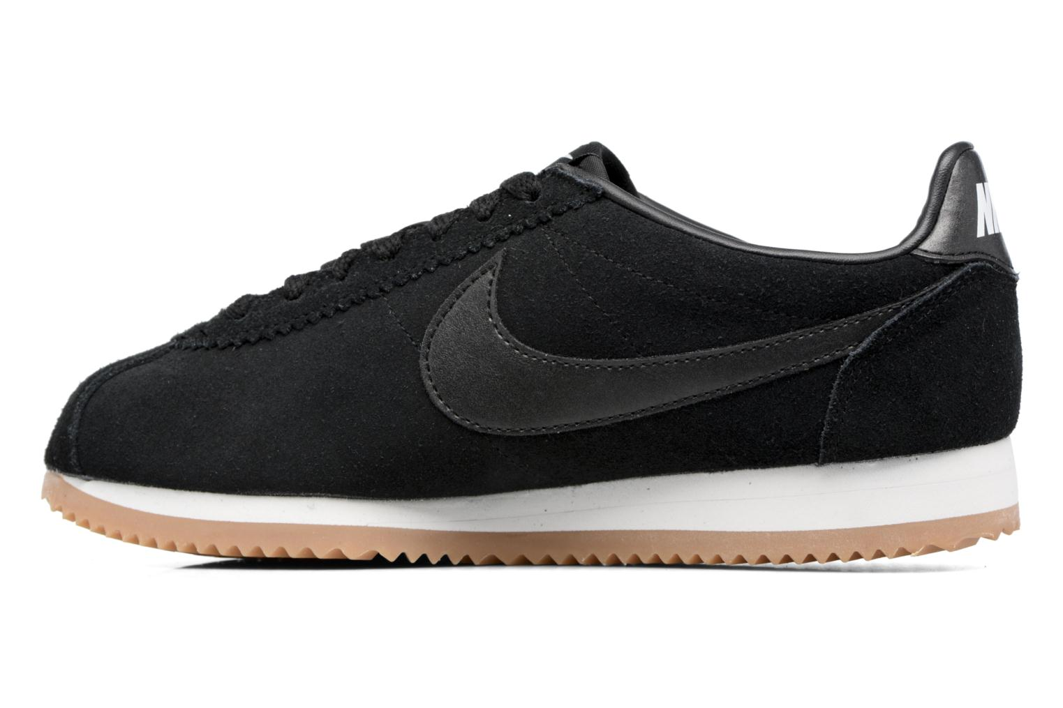 Sneakers Nike Wmns Classic Cortez Suede Bianco immagine frontale