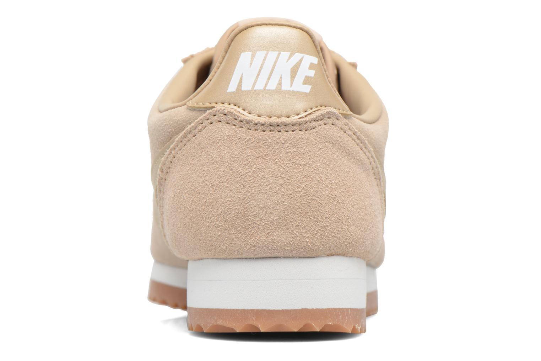 Baskets Nike Wmns Classic Cortez Suede Beige vue droite
