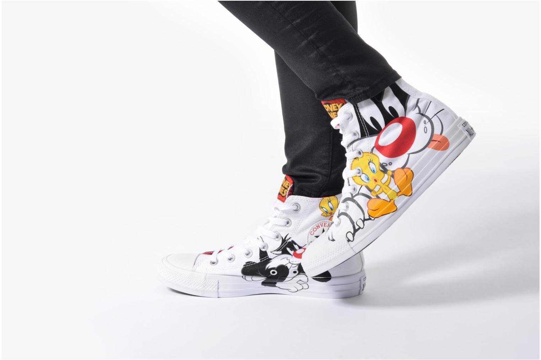 Baskets Converse Chuck Taylor All Star Looney Tunes Hi W Blanc vue bas / vue portée sac