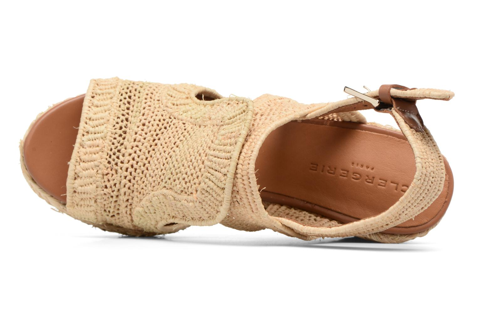 Sandals Clergerie DYPAILLE Beige view from the left