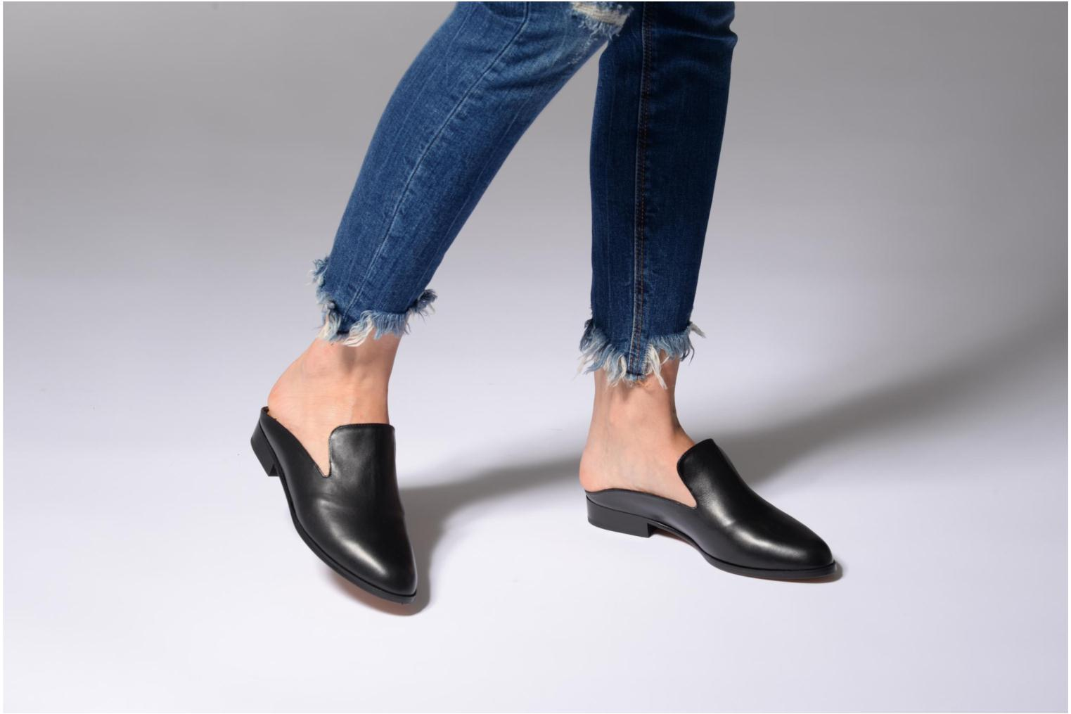 Mules & clogs Clergerie ALICEO Black view from underneath / model view
