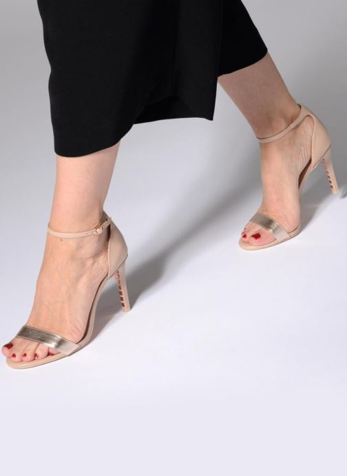 High heels Dune London MORTIMER Beige view from underneath / model view