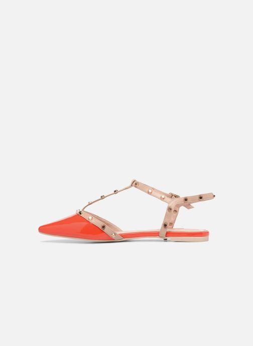 Sandales et nu-pieds Dune London CAYOTE Rouge vue face
