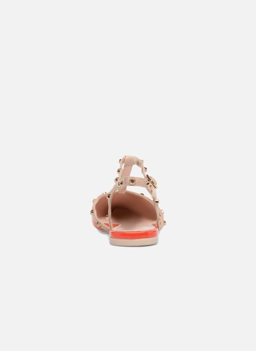 Sandales et nu-pieds Dune London CAYOTE Rouge vue droite