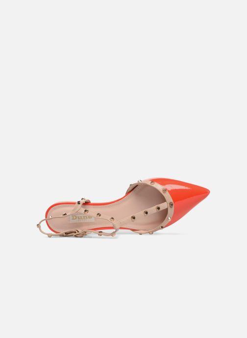 Sandales et nu-pieds Dune London CAYOTE Rouge vue gauche