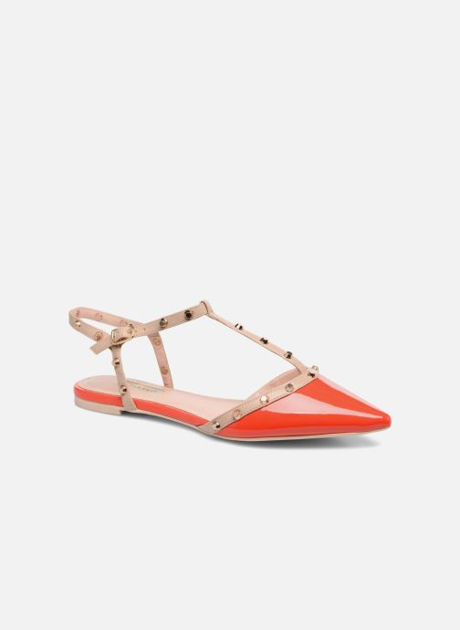 Sandales et nu-pieds Dune London CAYOTE Rouge vue détail/paire
