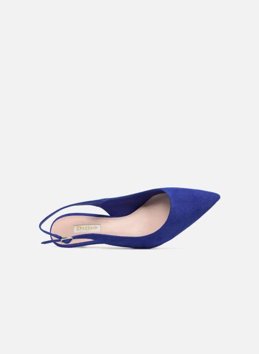 Escarpins Dune London CASANDRA Bleu vue gauche