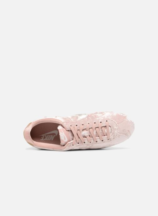 Trainers Nike Cortez Velvet Pink view from the left